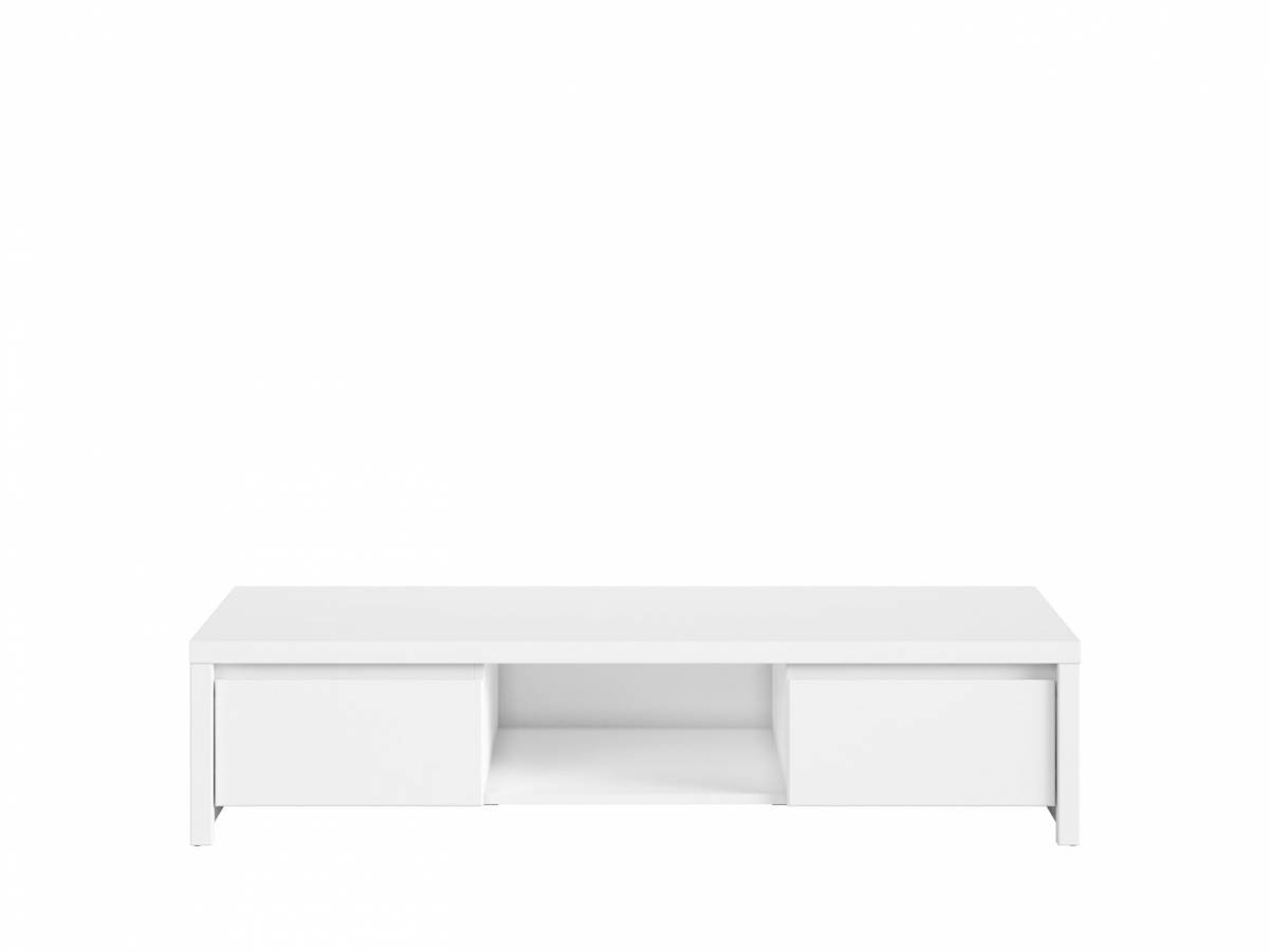 TV stolík Kaspian RTV2S (biela + biela matná)
