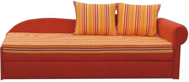 Rozkladacia pohovka, oranžová, pravá, AGA D