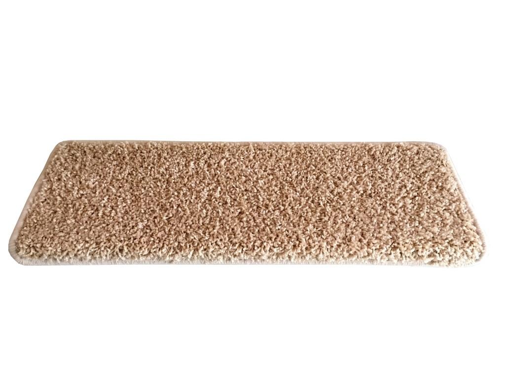 VOPI Nášľap na schody Color Shaggy obdĺžnik béžová, 24 x 65 cm