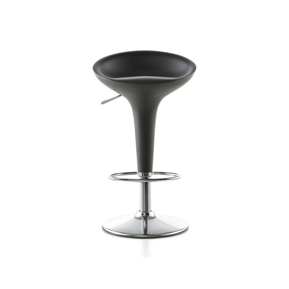 Tmavosivá barová stolička Magis Bombo, výška 50/74 cm