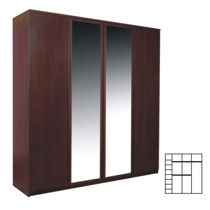 Skriňa so zrkadlom, sosna lareto, PELLO TYP 23