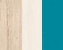 Rohová skriňa BEST 01 / breza / biela LINEA   Farba: breza/biela/atlantic