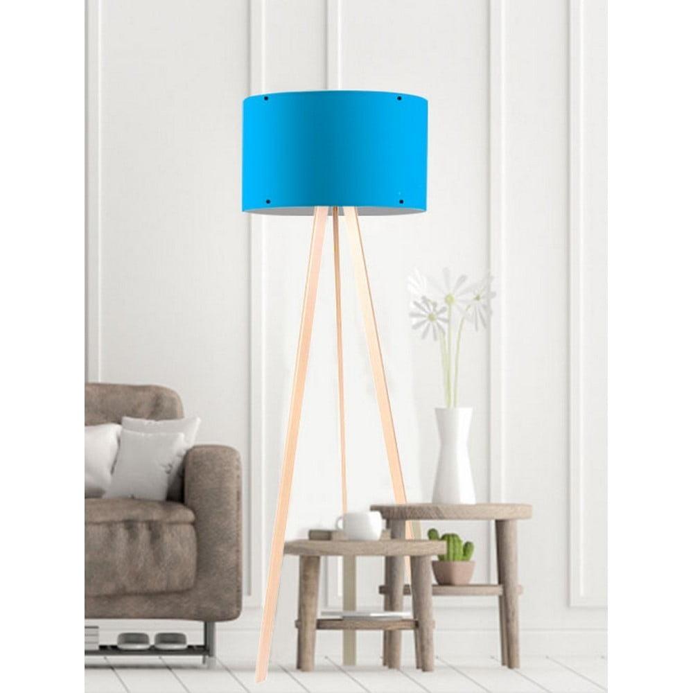 Modrá stojacia lampa Simple