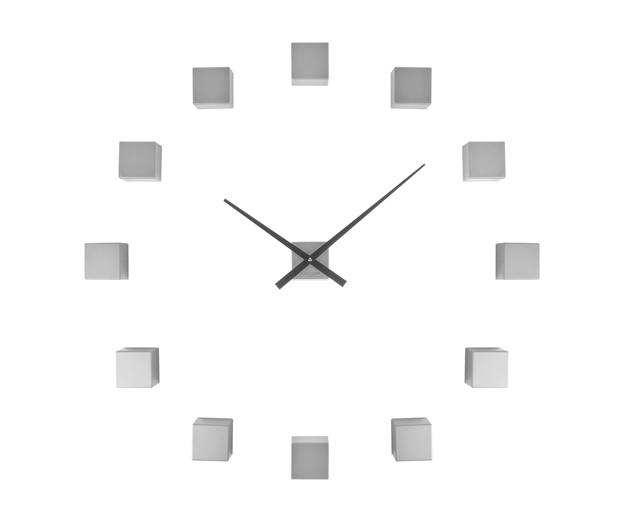 Nástenné hodiny Karlsson KA5698SI Diy Cubic Silver