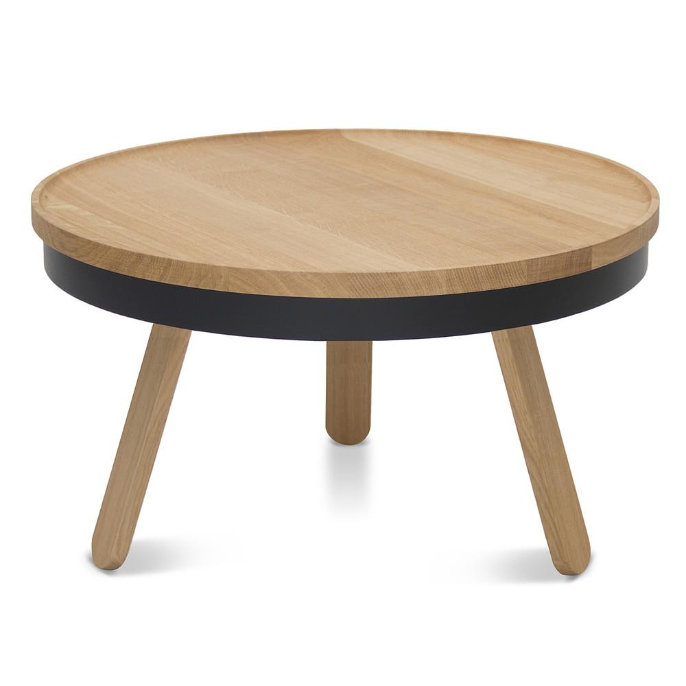 Prírodno-čierny odkladací stolík s úložným priestorom Woodendot Batea M