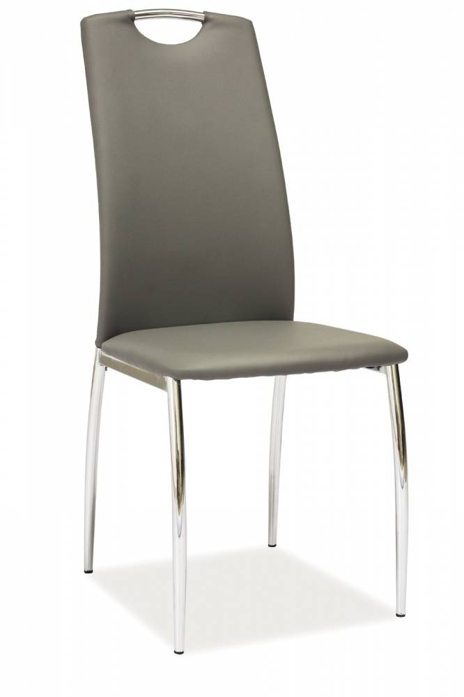 Jedálenská stolička H-622 (ekokoža sivá)