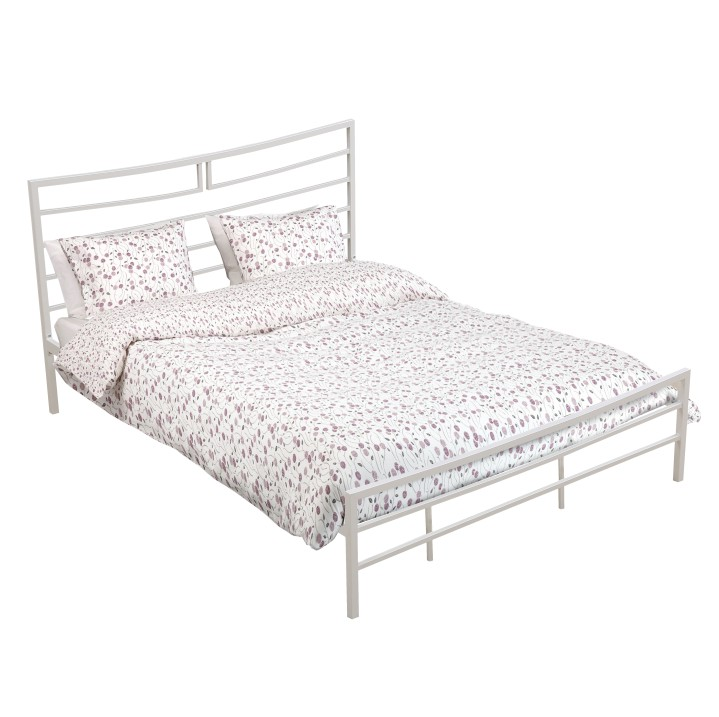 Manželská posteľ 160 cm Dalia (s roštom) (biela)