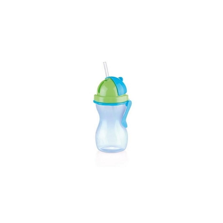Tescoma Detská fľaša so slamkou BAMBINI modrá, 300,