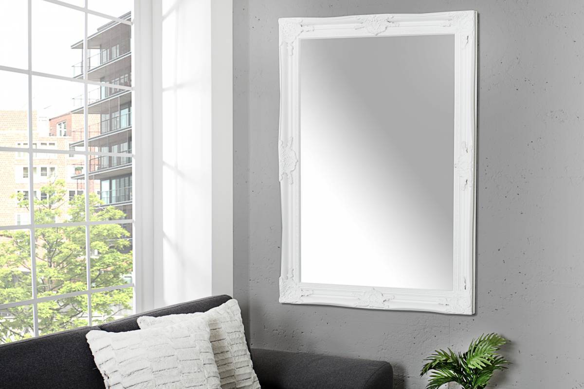 Nástenné zrkadlo RENESANCE - biela