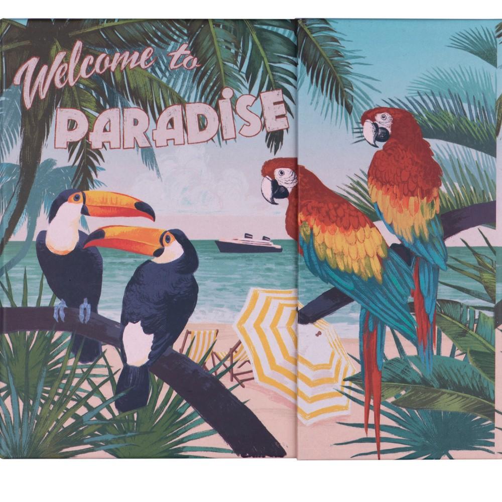 Týždenný plánovač s lepiacimi papierikmi a úložnou priehradkou Tri-Coastal Design Paradise
