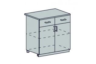 PROVENSAL dolná skrinka s 2 zásuvkami 80D1S2 šedá