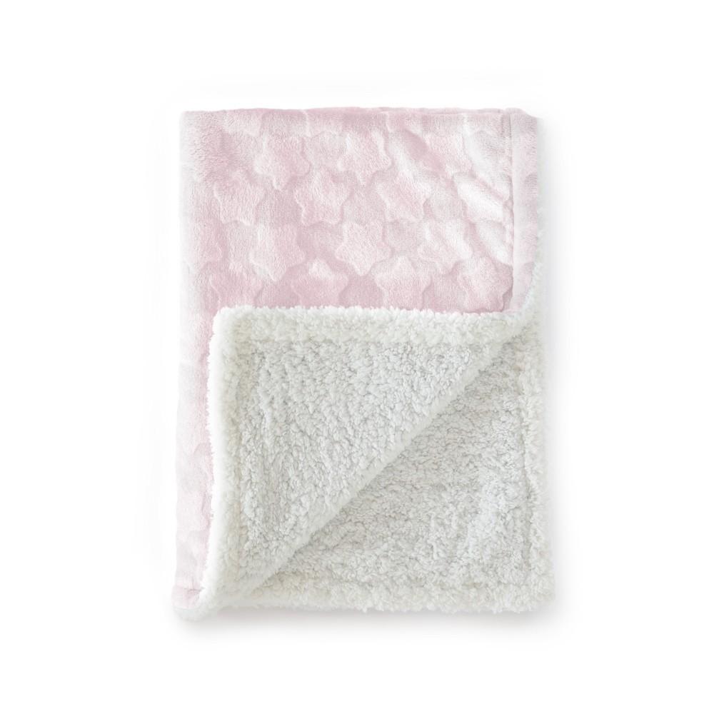 Ružová detská deka Tanuki Estrellas, 80×110cm
