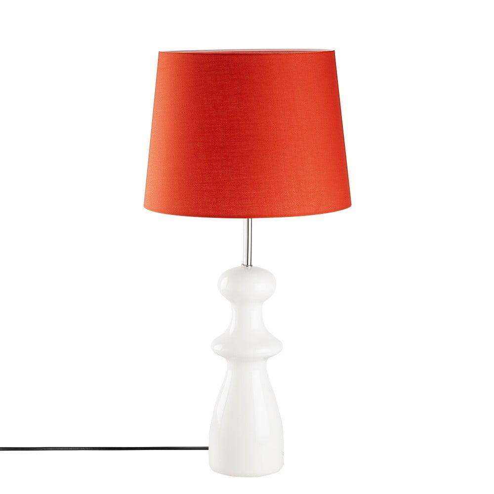 Červená drevená stolová lampa Opviq lights Trilian