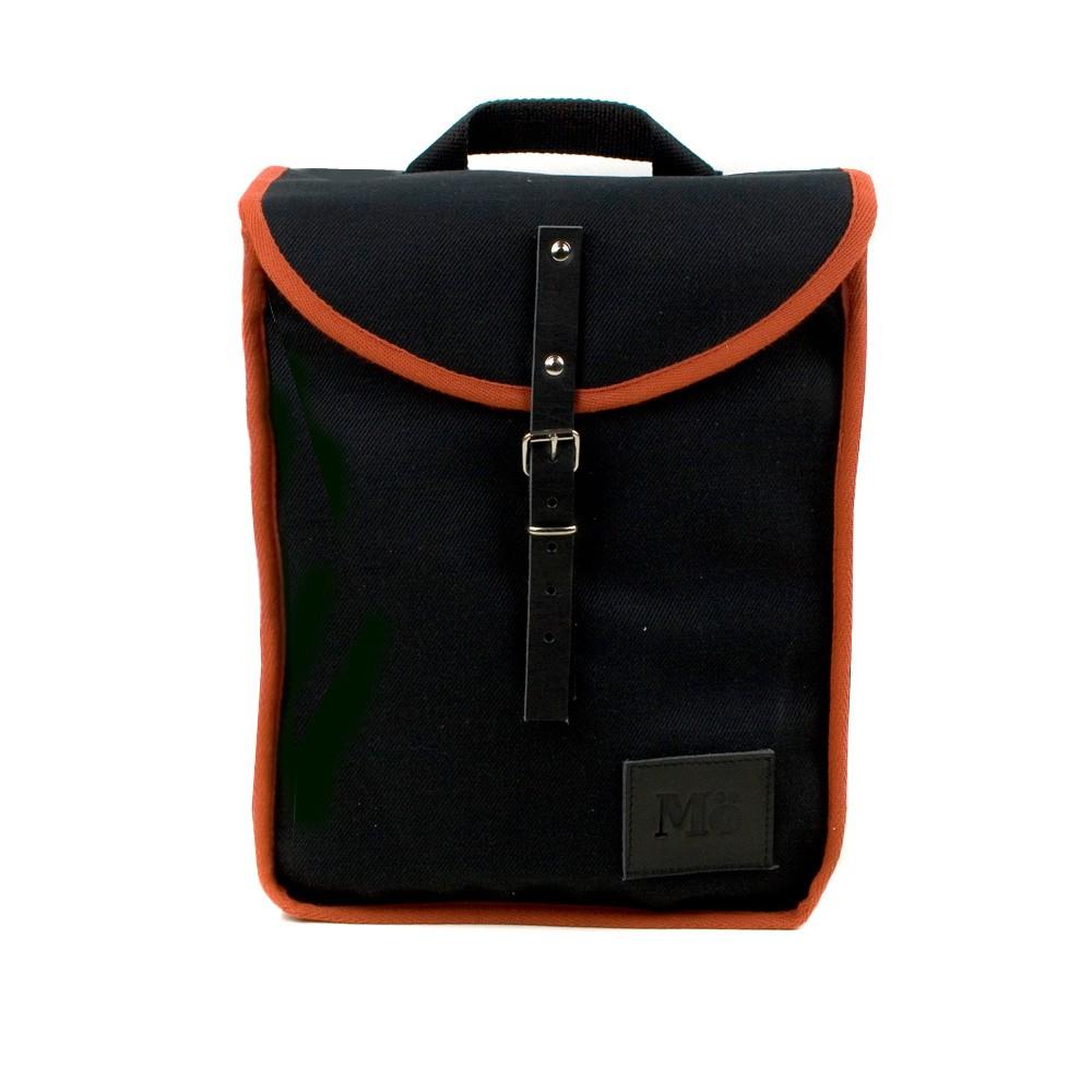 Čierny batoh s oranžovým detailom Mödernaked Orange Heap