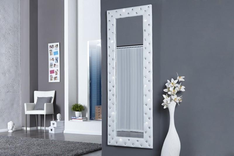 Zrkadlo na stenu BUTIQUE L WHITE - biela