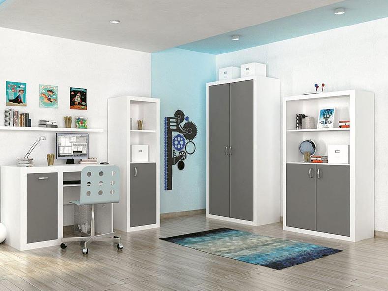 Detská izba FILIP / COLOR   Farba: biela / sivá