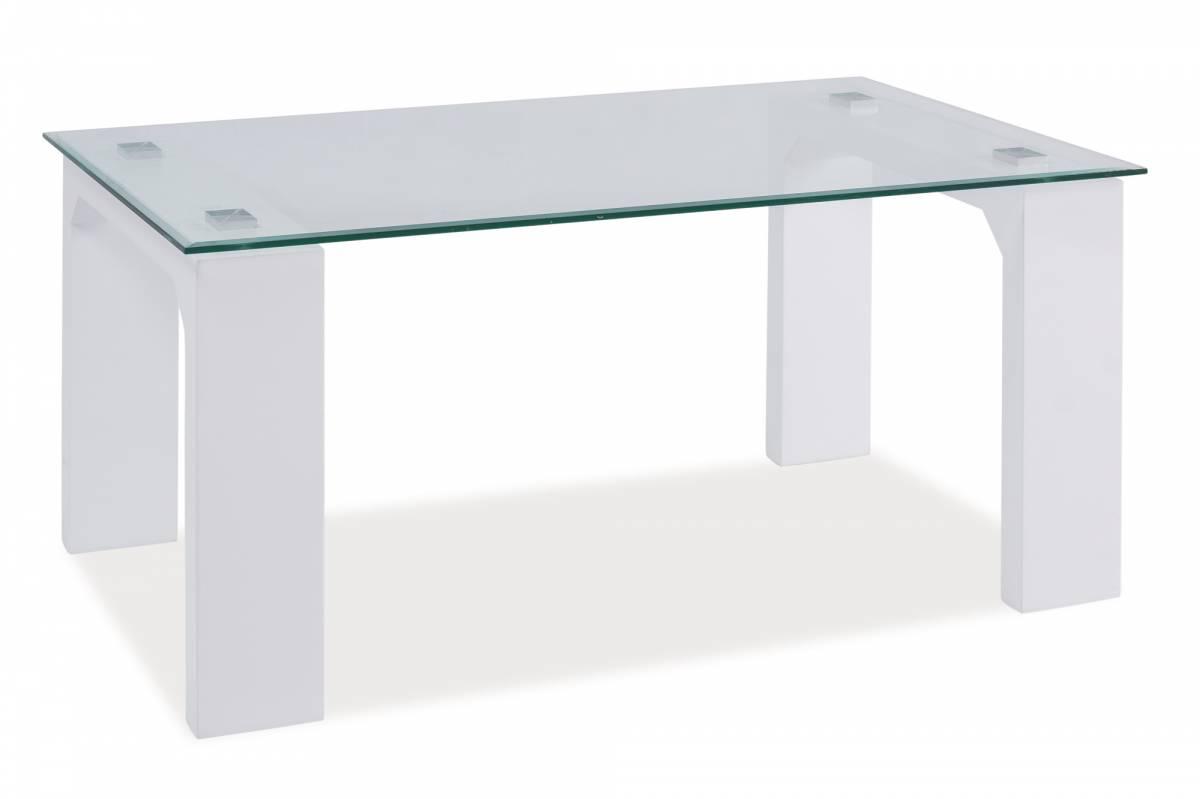 Konferenčný stolík Scarlet (lesk vysoký biely)