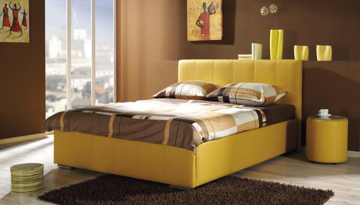 Čalúnená posteľ AFRODYTA A+B s úložným priestorom, 140x200 cm
