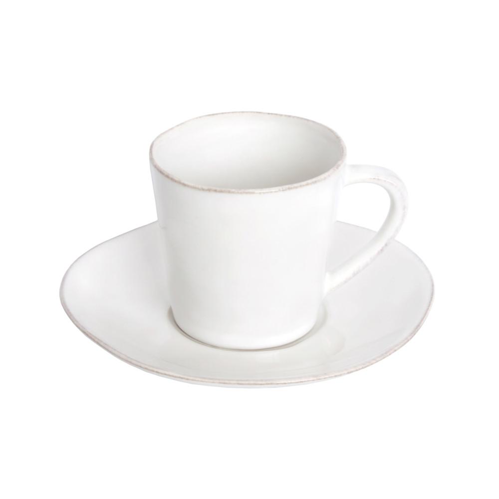 Biela keramická šálka na čaj stanierikom Ego Dekor Nova, 190ml