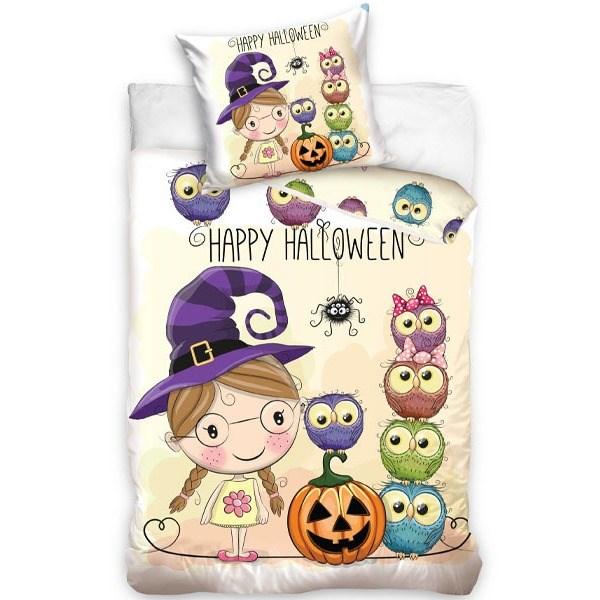 TipTrade Bavlnené obliečky Halloween Little Witch, 140 x 200 cm, 70 x 80 cm