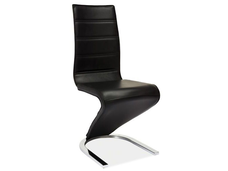 Jedálenská stolička HK-669, čierno-biela