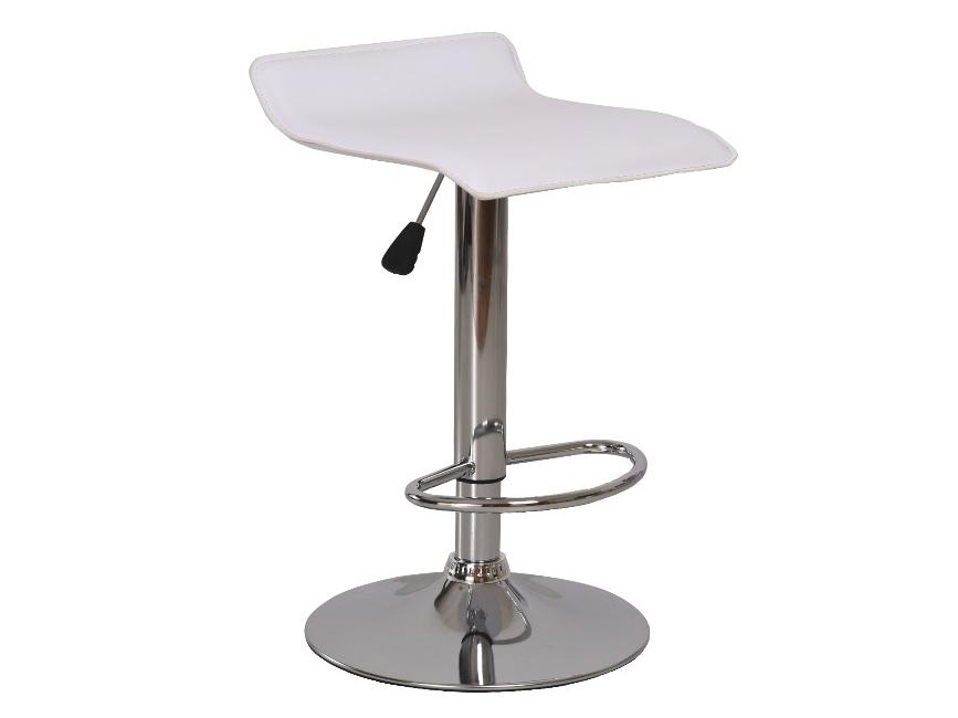 Barová stolička Laria (biela + chróm)
