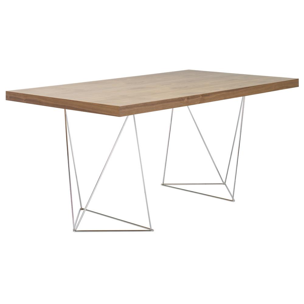 Hnedý stôl TemaHome Multi, 160 cm