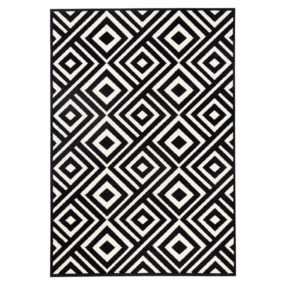 Čierno-biely koberec Hanse Home Art, 70x140cm