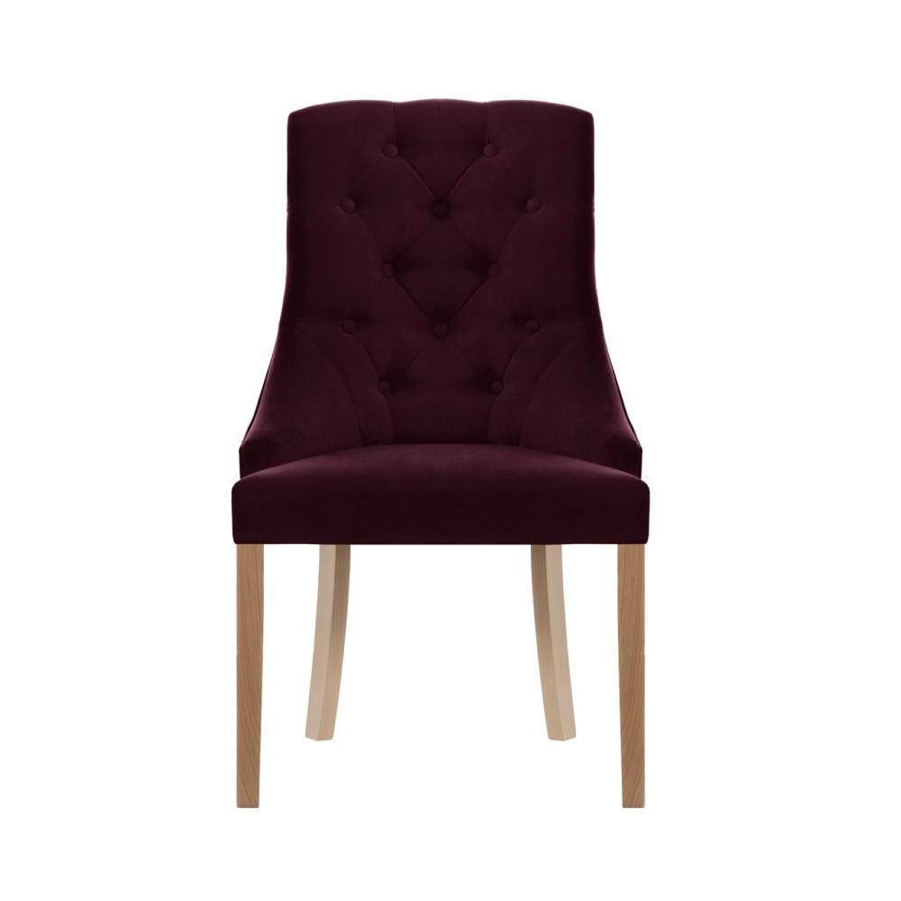 Tmavočervená stolička Jalouse Maison Chiara