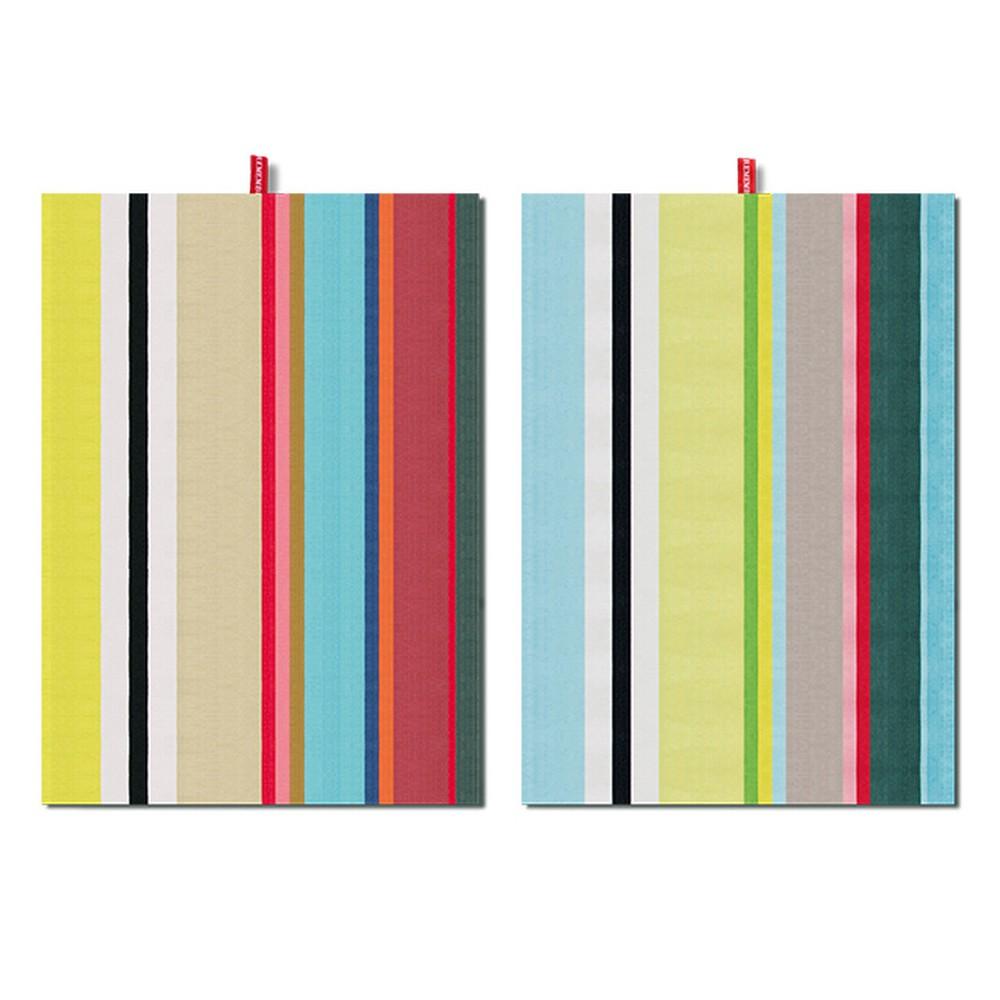 Sada 2 utierok Remember Green Stripes, 70x50 cm