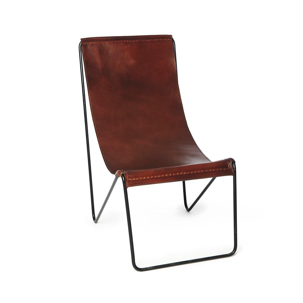 Hnedá stoličky z pravej kože Simla Leather