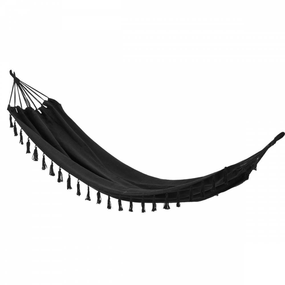 Hojdacie závesné lehátko Tassel čierna, 200 x 100 cm
