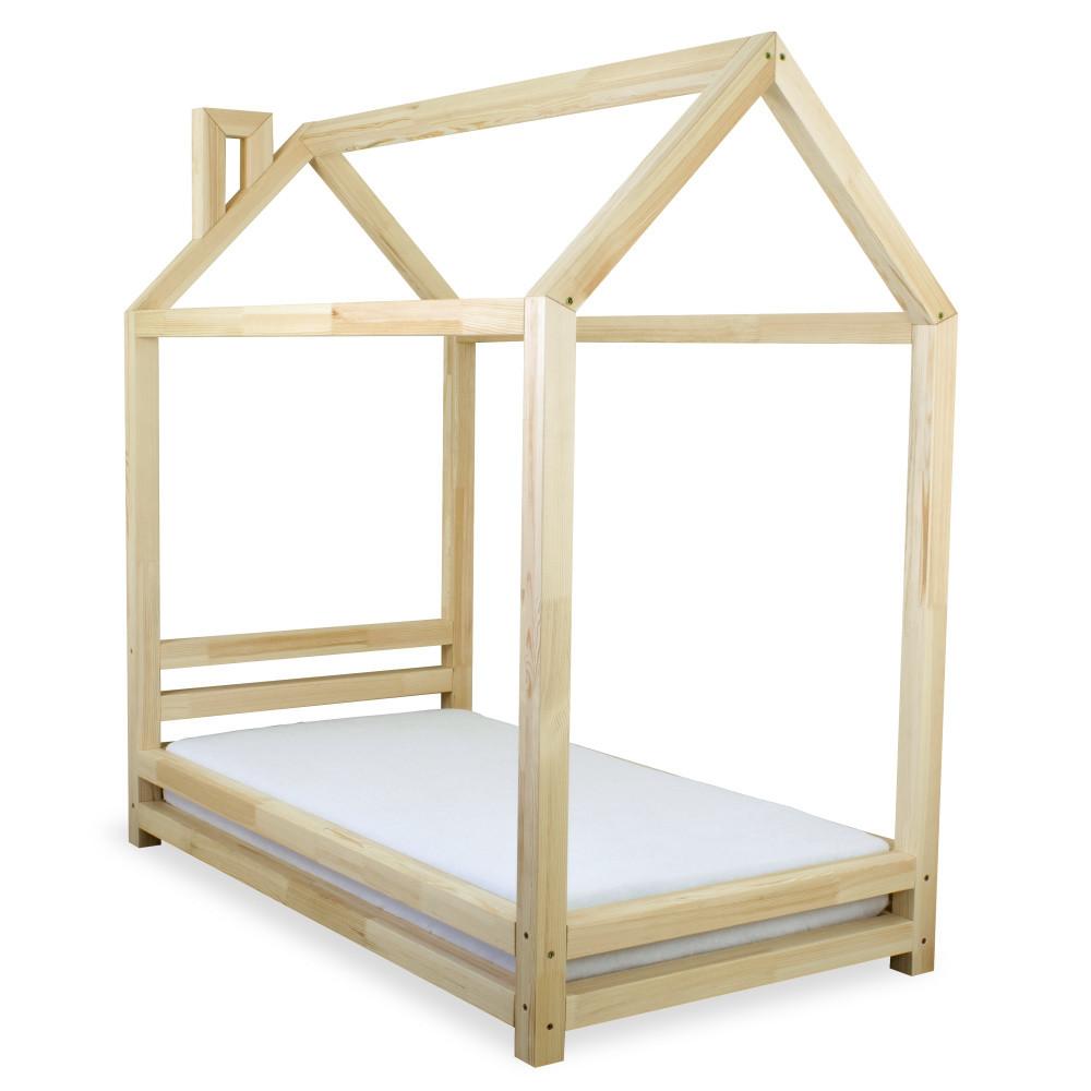 Detská posteľ z lakovaného borovicového dreva Benlemi Happy, 80x160cm