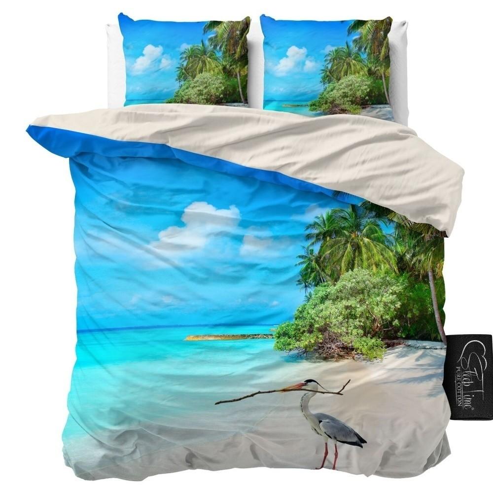 Obliečky z mikroperkálu Sleeptime Beach, 160 x 200 cm
