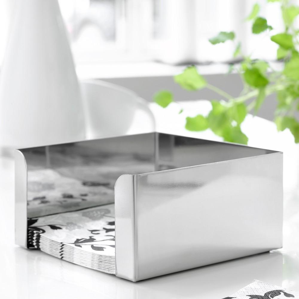 Strieborný box na obrúsky Steel Function, malý