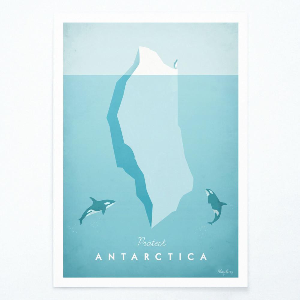 Plagát Travelposter Antarctica, A3