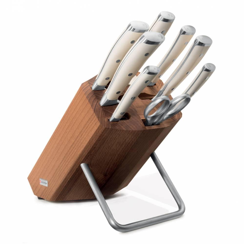 Súprava nožov s stojanom, ocieľkou a nožnicami 9-dielna Classic Ikon crème