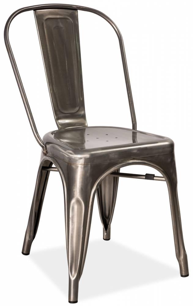 LIFT 2 stolička, kartáčovaná oceľ