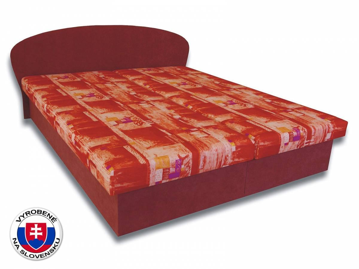 Manželská posteľ 160 cm Milka 4 (s penovými matracmi)