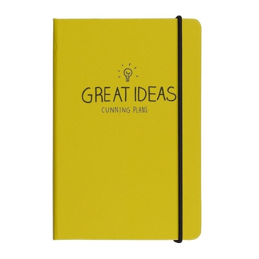 Zápisník A6 Happy Jackson  Great Ideas Yellow