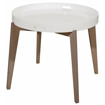 Servírovací stolík TRAY S - biela