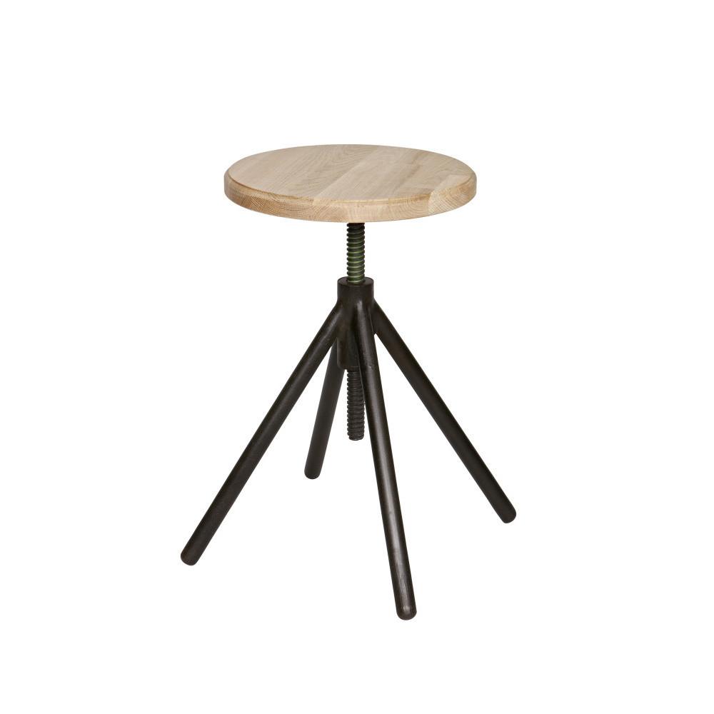 Drevená stolička s čiernymi nohami DeEekhoorn Lily