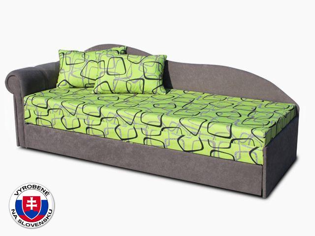 Jednolôžková posteľ (váľanda) 70 cm Luxus II (Sivá 81 + Dodo 1027) (L)