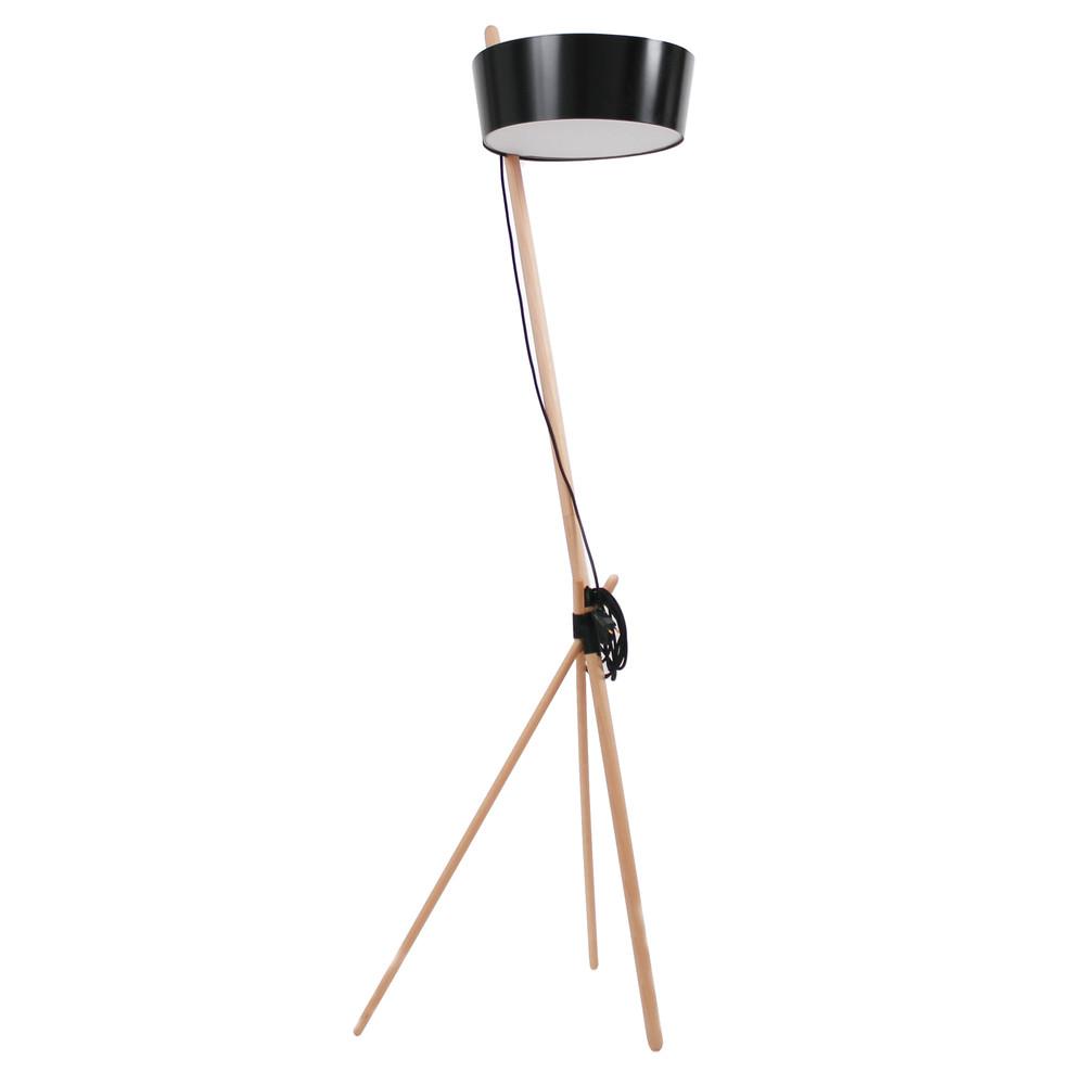 Čierna voľne stojacia lampa Woodendot Ka L