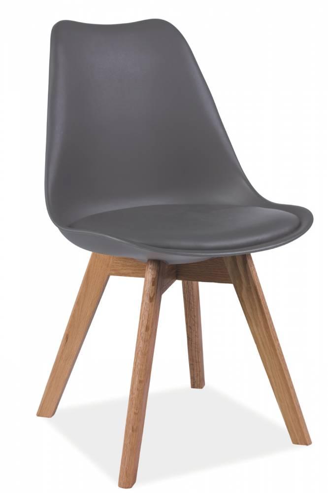 Jedálenská stolička Kris (sivá + dub)