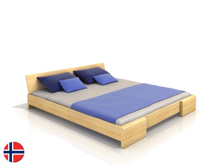 Manželská posteľ 200 cm Naturlig Blomst (borovica) (s roštom)