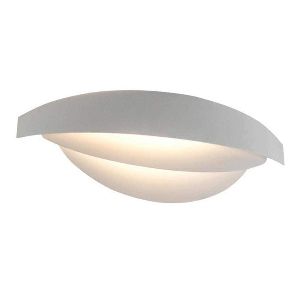 Biele nástenné svietidlo Mask, 38 x 9 cm