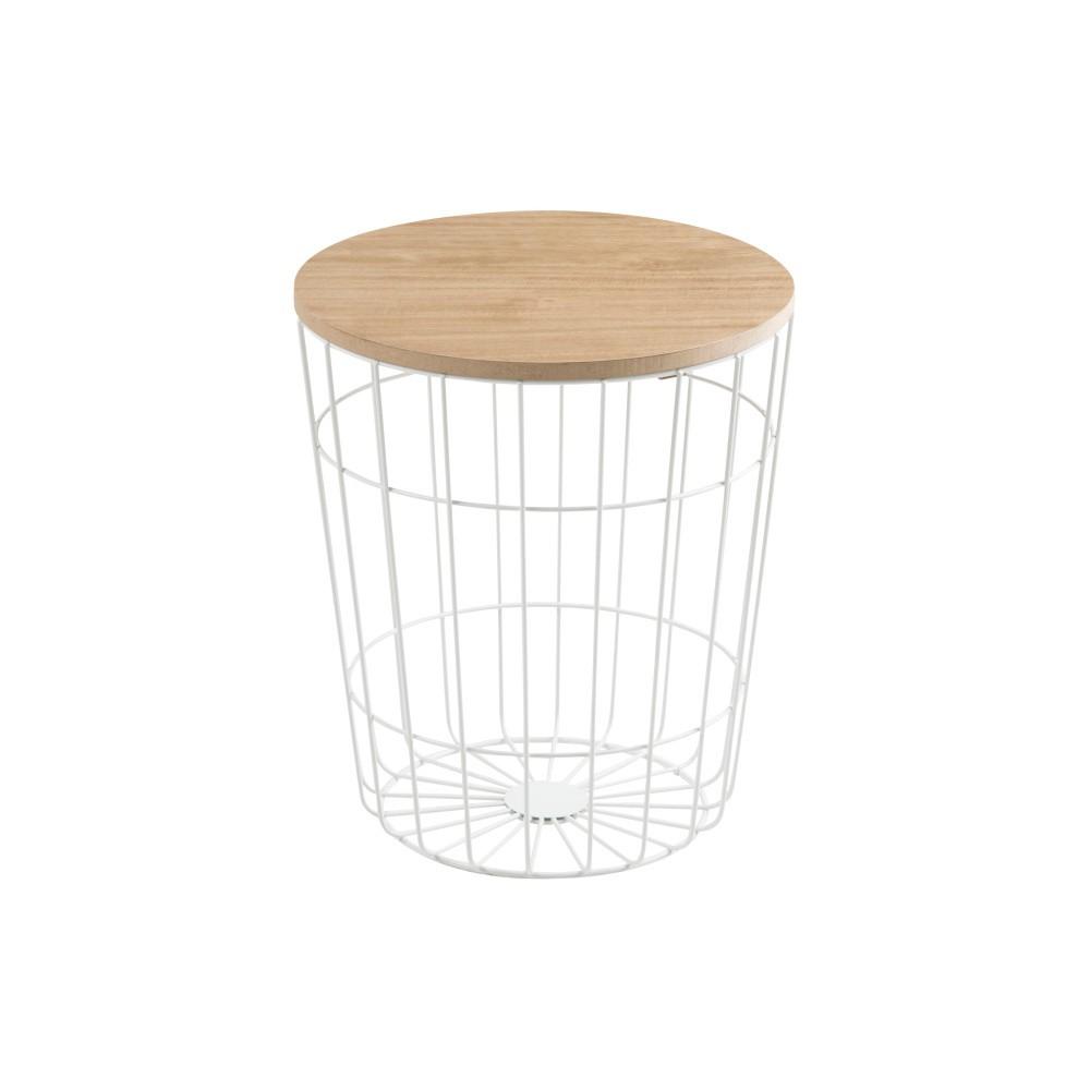 Biely odkladací stolík Actona Lotus Light, Ø 34 cm