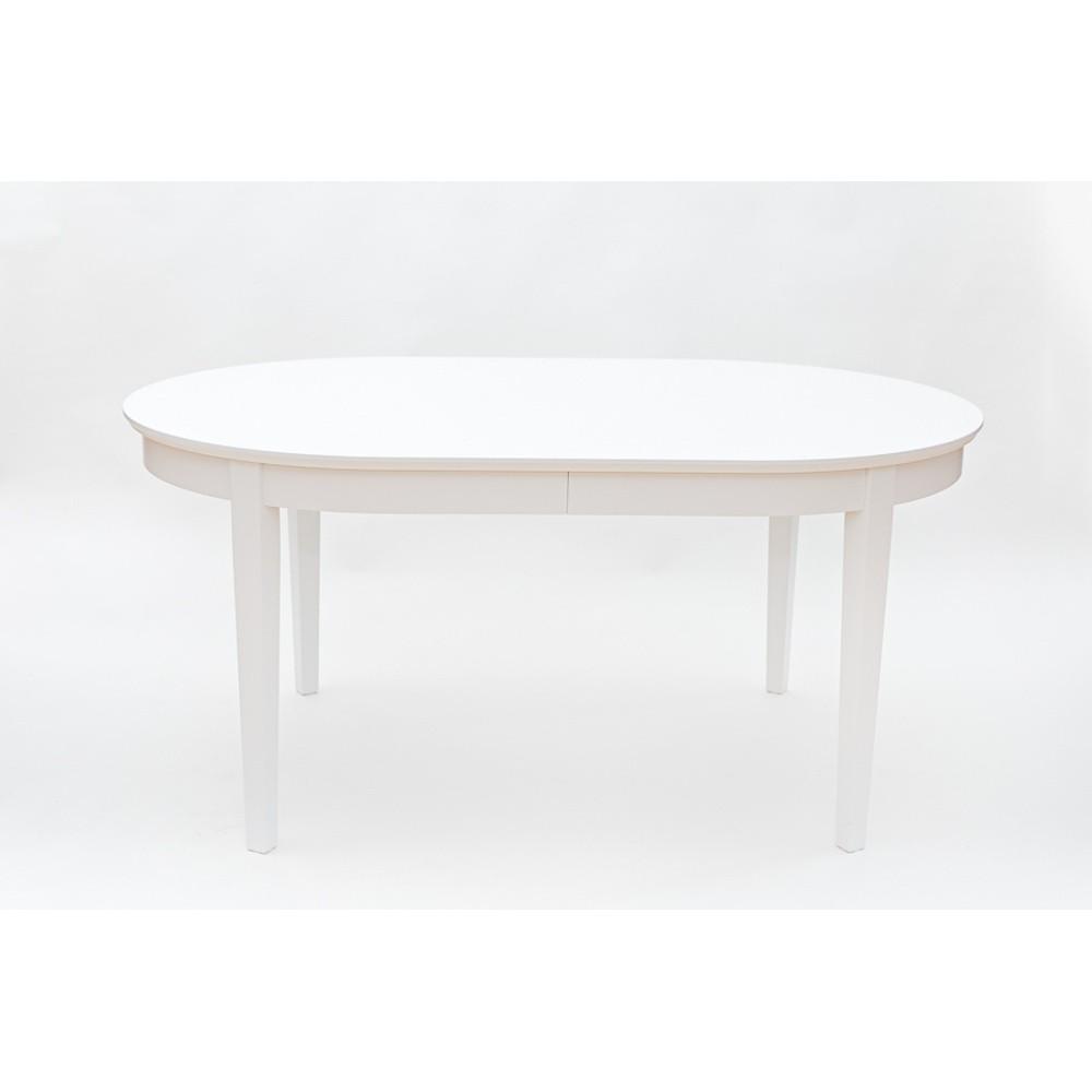 Biely rozkladací jedálenský stôl Wermo Family, 165 - 215×105cm