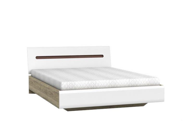 AZTEKA posteľ LOZ 160, san remo/biely lesk